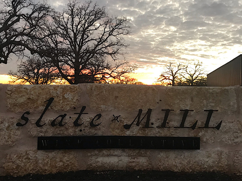 Slate Mill Wine Collective Sunset